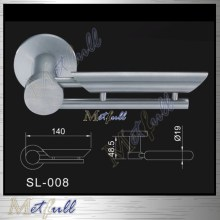 Satin Stainless Steel 316 Pemegang Tuas Pepejal