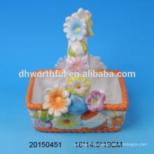 Lovely cerámica portátil huevos de Pascua almacenamiento cestas