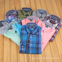 Export-Qualität Freizeit-Baumwoll-Checkered-Shirt