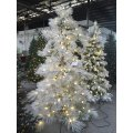 Spiral Popout Christmas Tree with Flocked Tips and Lighting (OEM)