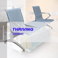 Hospital de acero inoxidable de bajo precio que acompaña a la silla de espera (THR-YD1026-T)