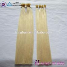 6A, 7A, 8A 100% cabelo humano popular de alta qualidade barato atacado 0.5 / 0.8 / 1.0g grau 8a virgem cabelo russo eu ponta loira
