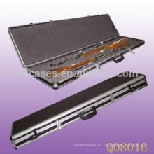 completa caja de fusil de aluminio con espuma en el interior de China fábrica de alta calidad