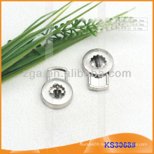 Metal cord stopper or toggle for garments,handbags and shoes KS3068#