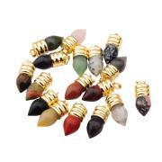 Natuurlijke gloeilamp Gemstone Crystal hangertje verguld goud