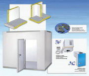 Portable Cold Storage Room Frozen Food With Integration Refrigerating Unit