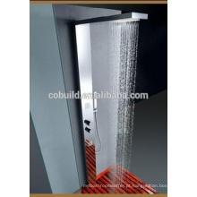 Painel de duche de forma retangular, painel de chuveiro de aço inoxidável