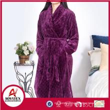 vente en gros 280gsm coupe en peluche flanelle polaire femmes peignoir vêtements de nuit