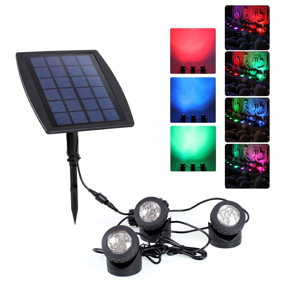 Underwater solar pond light