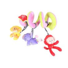 Fábrica de fornecimento infantil brinquedo em espiral de pelúcia