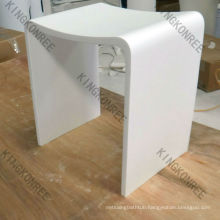 Shower seats in stone or solid surface