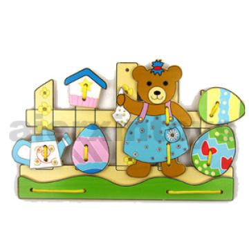 Laço de madeira urso (81429)