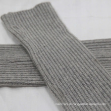 Mangas compridas chinesas luvas de malha sem dedos