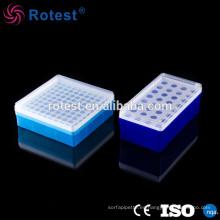 Caja de tubo centrífuga de plástico de 1,5 ml / 100 orificios
