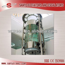 Round Thick Glass Building Elevator