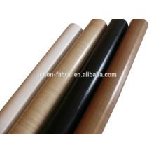 China fabricante PTFE teflon de alta temperatura fibra de vidro pano tecido
