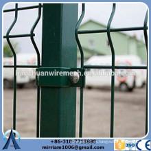 Fábrica de bajo precio PVC recubierto panel de cerca curvada con alta calidad