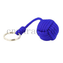 Factory sell blue paracord monkey fist. Customized length and color welcome