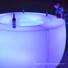 LED iluminado muebles de la barra tabla Mobile APP control sistema cambiante del color decoración partido utilizado muebles de discoteca