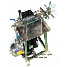 Presse-filtre d'acier inoxydable de solides solubles, nouvelle plaque hydraulique manuelle de conception d'acier inoxydable et filtre-presse de cadre de presse de filtre de Leo