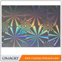 PVC hermoso del holograma del PVC de Hographic del laser para la tarjeta de la clase superior