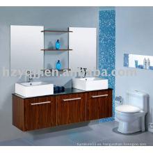 Moderno lavabo doble de baño de porcelana melamina baño gabinete de vanidad