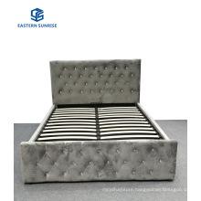 Modern Luxury Design Bedroom Furniture Queen King Size Velvet Storage Bed