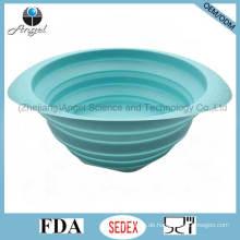 Eco-Friendly Küchenaccessoires Silikon-Filterkorb zum Waschen von Obst und Gemüse Sk36 (L)