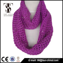 100% acrylic woven wholesale fashion knitted scarf