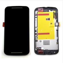 Vente en gros de pièces de téléphones mobiles pour Motorola Moto G2 Ecran LCD Touch with Frame