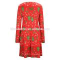 Árvore de Natal de cor vermelha de Natal impresso mãe e filha vestidos roupa de mãe filha roupas de mãe