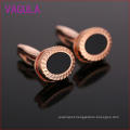 High Quality Dollar Rose Gold Plating Agate Cufflinks L52305