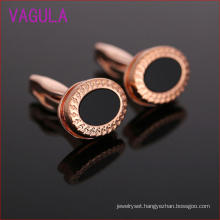 High Quality Dollar Rose Gold Plating Agate Cufflinks L52305