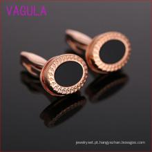 Alta qualidade dólar rosa chapeamento de ouro ágata abotoaduras l52305
