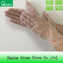 Klare günstige Prüfung Vinyl Handschuh