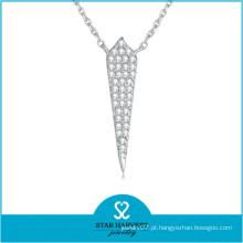 2015 melhor venda colar de corrente de prata (N-0325)