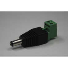 Tipo verde L com parafuso 12V 5.5 / 2.1mm macho e fêmea DC Power Connector