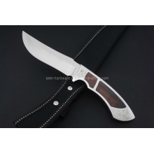 Cuchillo fijo de la manija de madera (SE-0419)