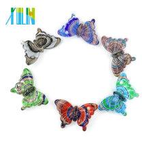 Pendentifs en verre faits à la main de papillon de Murano de verre de Murano pour le collier DIY 12pcs / box, MC0006