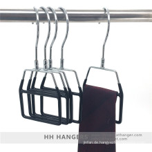 Metall Wirbel Haken Kunststoff überdachte Display Krawatte Schal Kleiderbügel