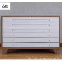 Stahl Büroschrank abschließbar Multi-Karten-Schublade Metallschrank mit Rädern