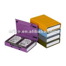"""2.5 """"y 3.5"""", caja de HDD, caja de la protección de HDD, caso externo de HDD, protector de HDD, caja de almacenaje de HDD, promoción y descuentos de la Navidad"""