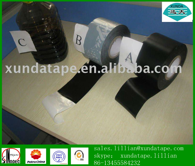 0.6mm thickness pipeline 3 ply anti corrosion tape