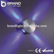 Высокое качество ip20 3w круглый светодиодный настенный светильник, закрытый светодиодный настенный светильник