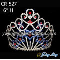 Red Blue Rhinestone Stone Baroque Crown Bridal Tiara