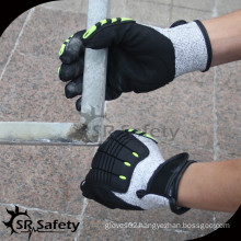 SRSAFETY china 2015 anti-impact gloves with best price and quality