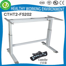 CTHT2-F5202 2 legs Height Adjustable office desk with wireless panel adjustable table frame