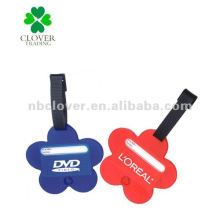 flower shape plastic luggage tag for promotion