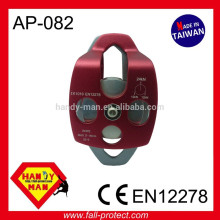 Movable Certification CE EN12278 Climbing Large rope 16mm Aluminum Double pulley
