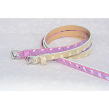 Fancy kids pu leather belt